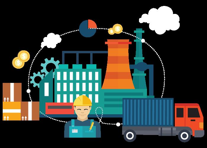 وظیفه تولید محصولات و یا خدمات به عهده تولیدکنندگان در زنجیره تامین است.