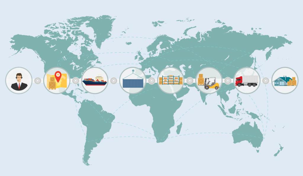 یکی از کاریردهای بهره مندی از زنجیره تامین جهانی، کمک به بهبود صادرات و توسعه آن می باشد.